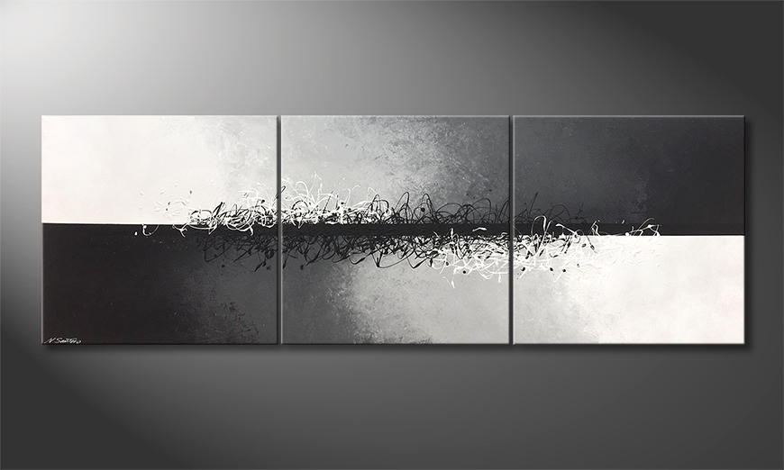 Moderne wall art Connected Contrast 240x80cm