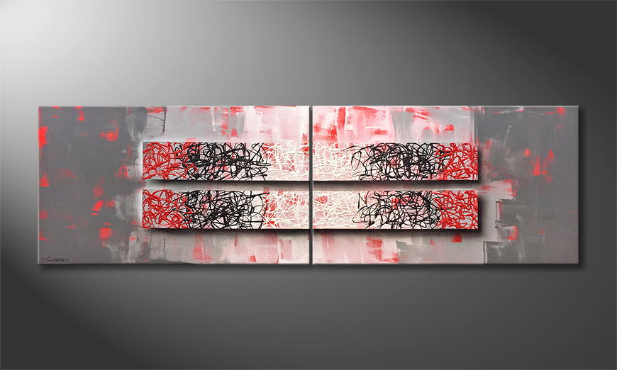 Moderne wall art Contrast Struggle 200x60x2cm