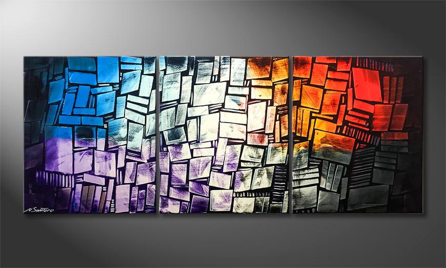 Moderne wall art Elements 180x70x2cm