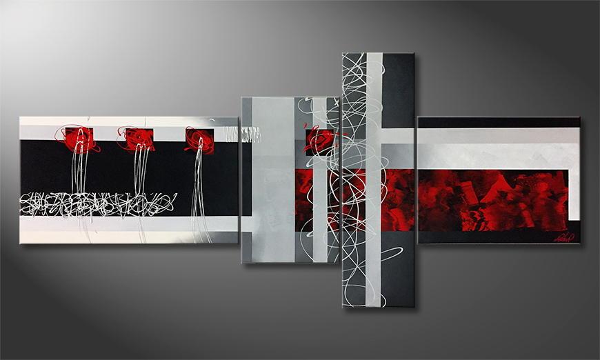 Moderne wall art Emotional Fame 220x100x2cm