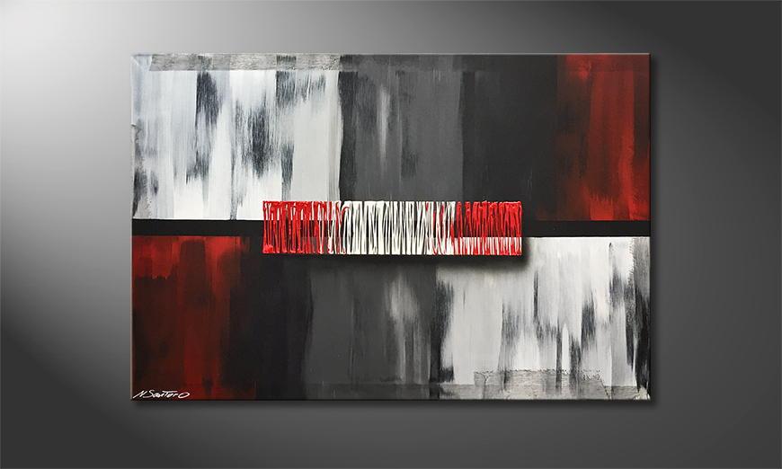 Moderne wall art Falling Contrast 120x80x2cm