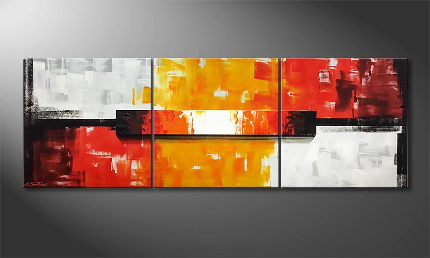 Moderne wall art Fire Block 210x70x2cm