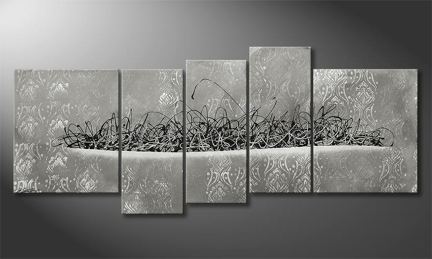 Moderne wall art Frozen Fire 190x80x2cm