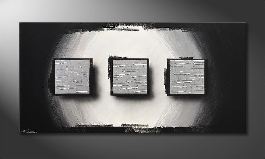 Moderne wall art Frozen Lights 140x70x2cm