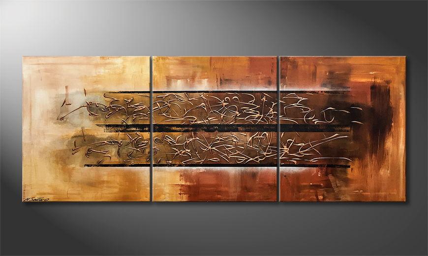 Moderne wall art Frozen Moment 180x70x2cm