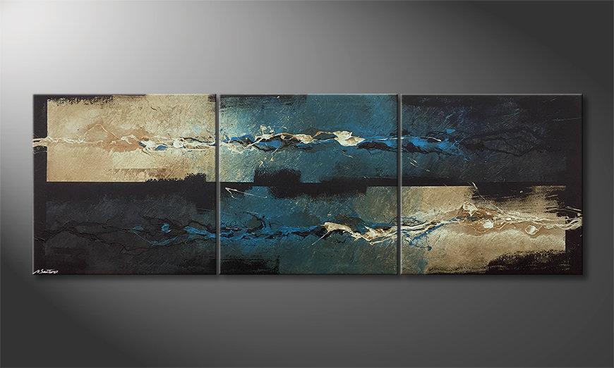 Moderne wall art Frozen Splashes 210x70x2cm