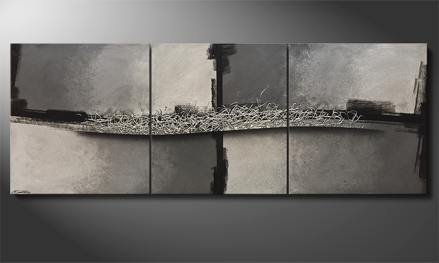 Moderne wall art Fusion Of Contrast 270x100x4cm