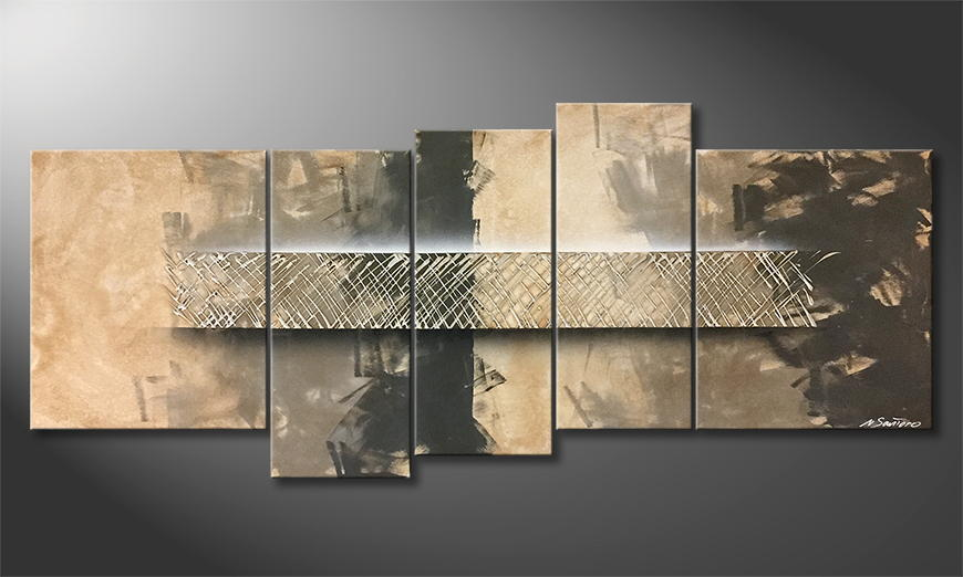 Moderne wall art Glassy Connection 190x80x2cm