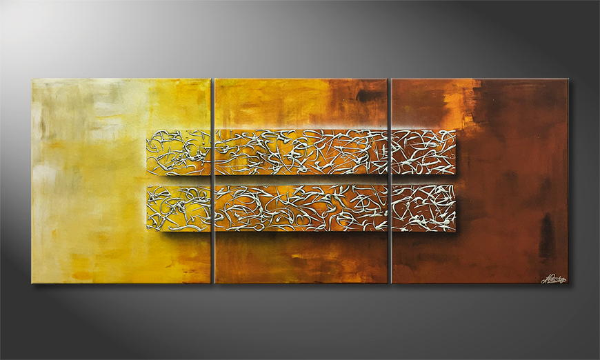 Moderne wall art Glassy Secret 180x70cm
