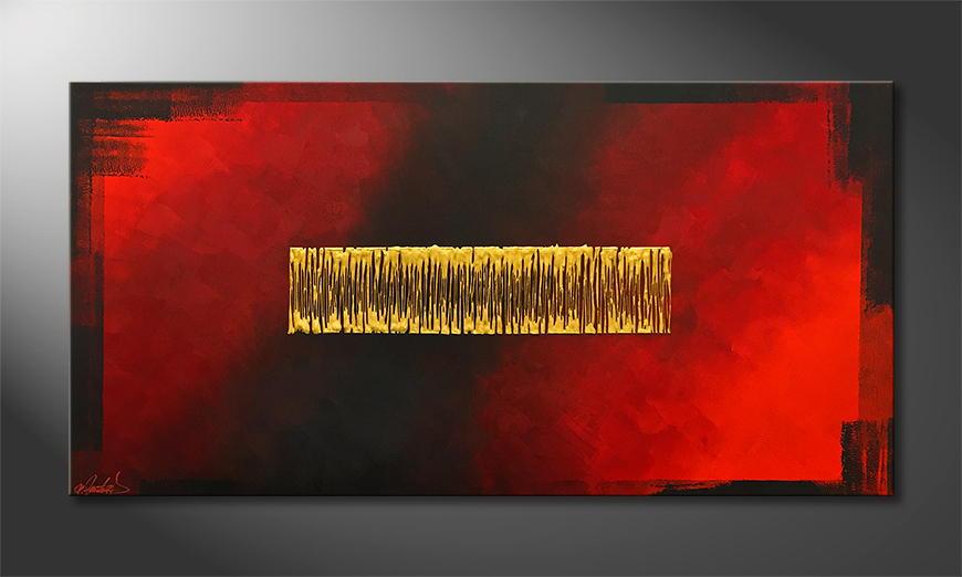 Moderne wall art Golden Mind 140x70x2cm