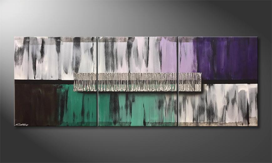 Moderne wall art Golden Spring 210x80x2cm