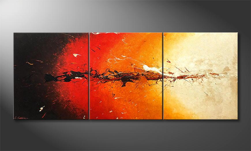 Moderne wall art Inflammable 180x70x2cm