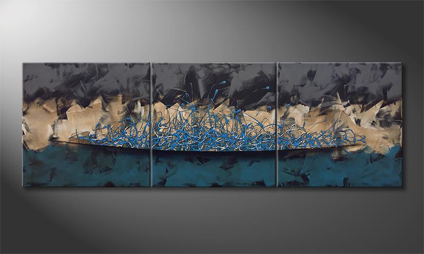 Moderne wall art Inner Wave 210x70x2cm