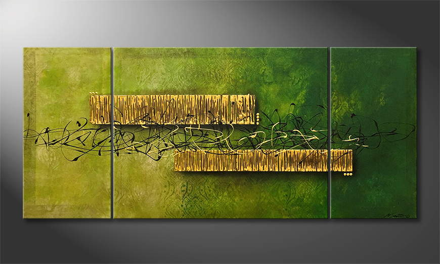 Moderne wall art Jungle Treasure 180x80x2cm