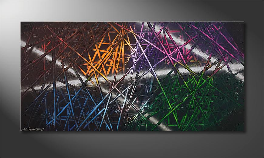 Moderne wall art Light Reflection 120x60x2cm