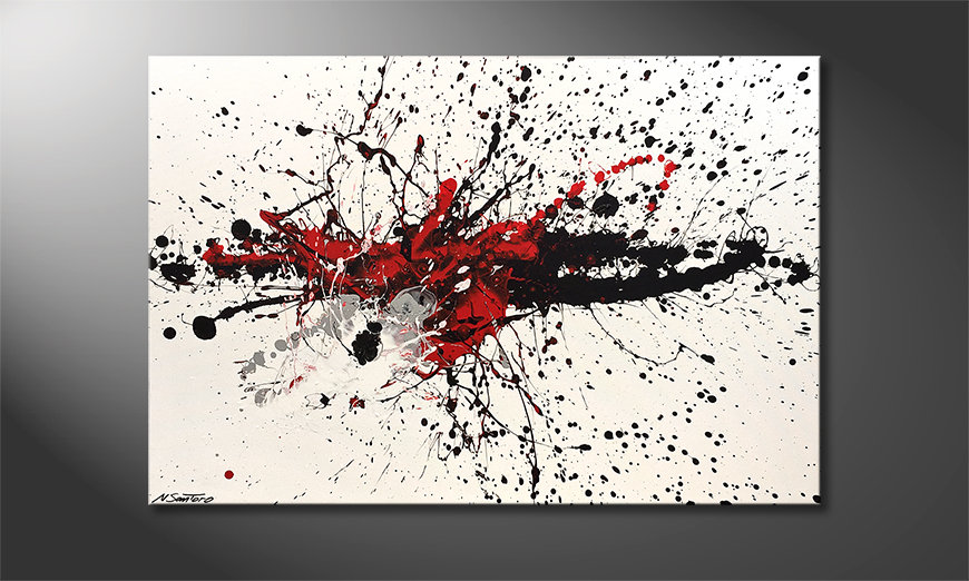 Moderne wall art Light Smash 120x80cm