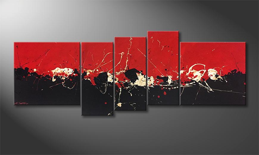Moderne wall art Liquid Contrast 210x80x2cm