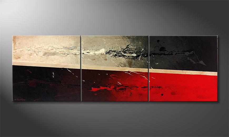 Moderne wall art Liquid Rock 210x70x2cm
