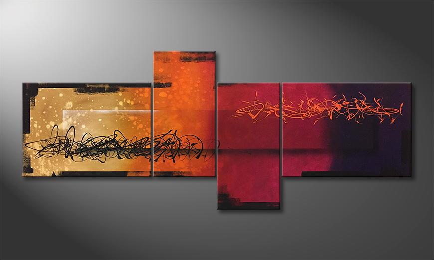 Moderne wall art Magic Sundown 240x100x2cm