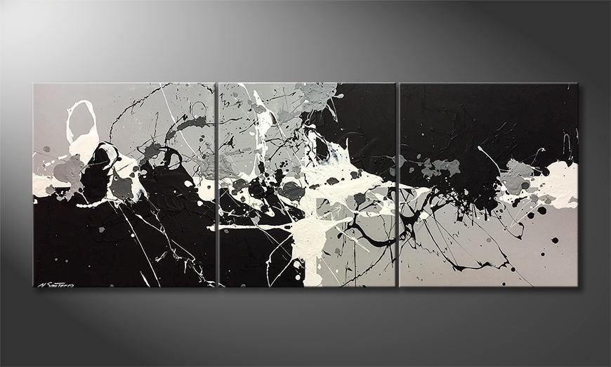 Moderne wall art Melting Light 180x70x2cm