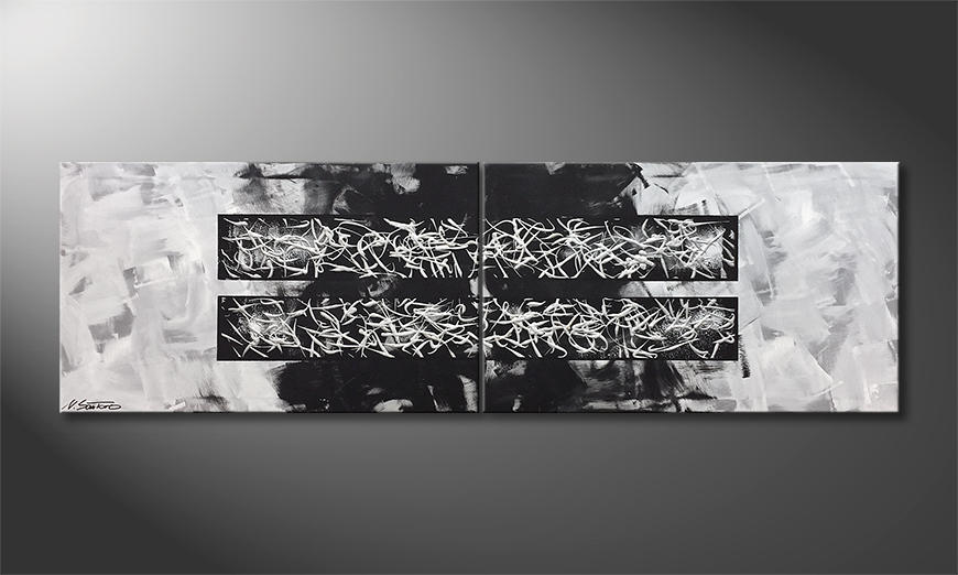 Moderne wall art Moving Moments 200x60x2cm