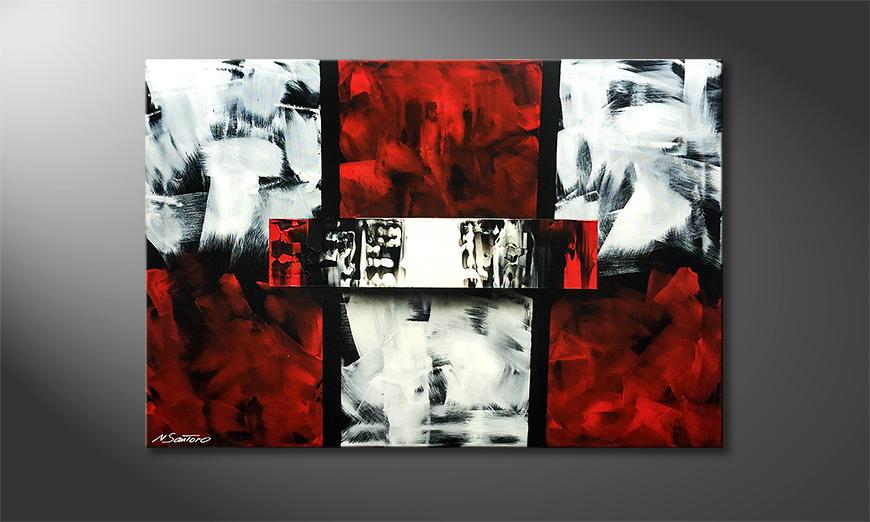 Moderne wall art New Times 120x80x2cm
