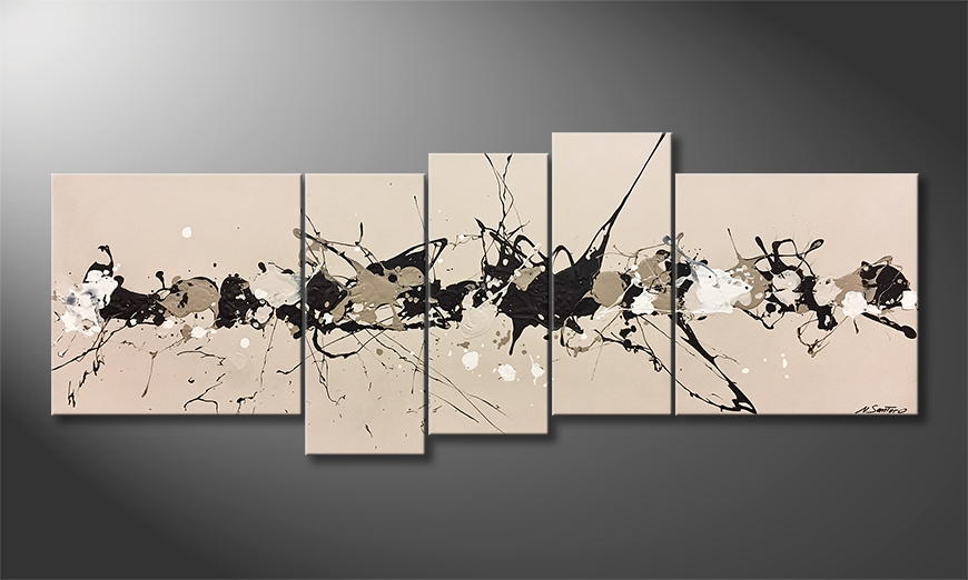 Moderne wall art Ole Cafe 210x80x2cm