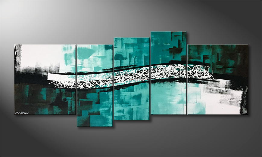 Moderne wall art Pacific Wave 190x80x2cm