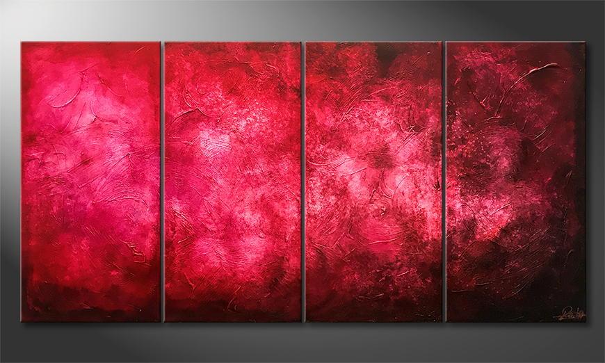 Moderne wall art Purple Cloud 160x80x2cm