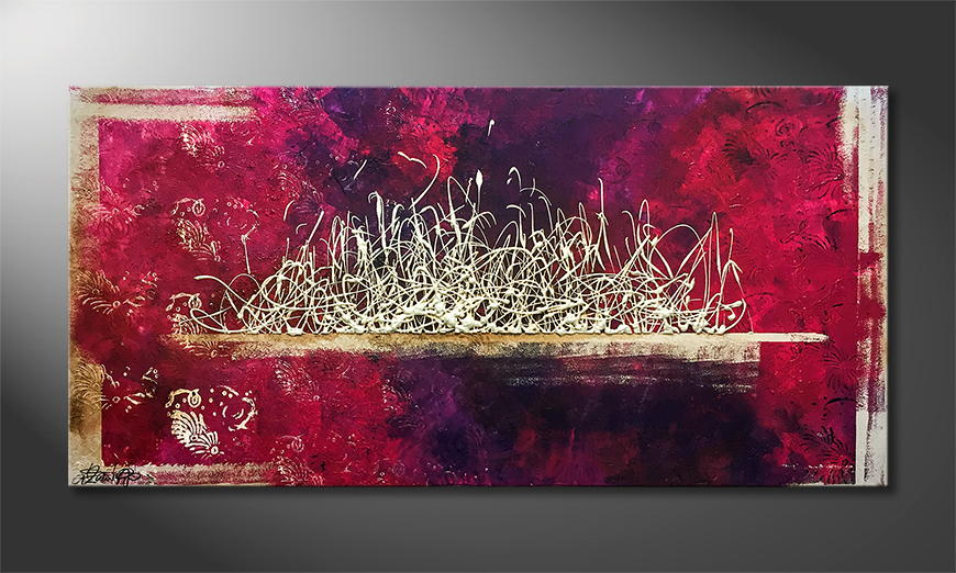 Moderne wall art Purple Dream 140x70x2cm