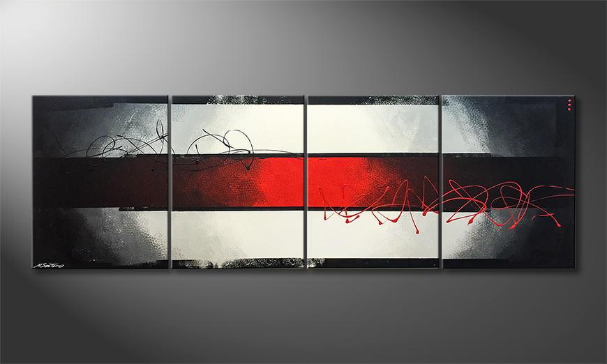 Moderne wall art Red Horizon 240x80x2cm