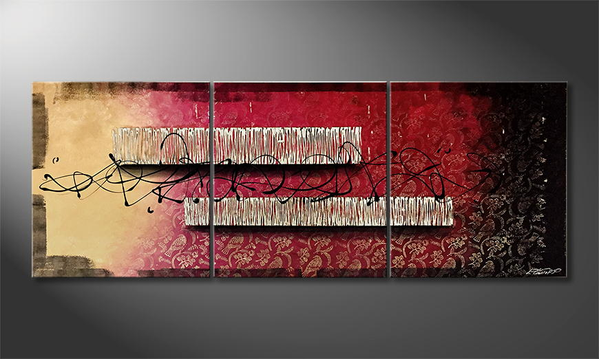 Moderne wall art Road To The End 210x80x2cm