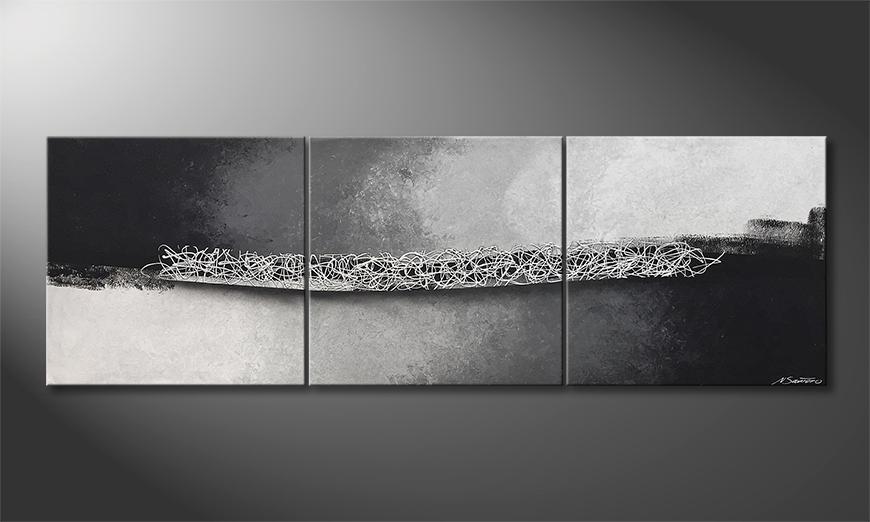 Moderne wall art Silver Curls 210x70x2cm