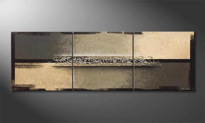 Moderne wall art Silver Throng 210x70x2cm