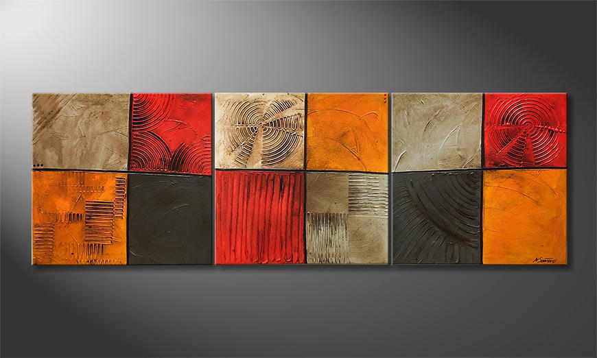 Moderne wall art Summer Days 210x70x2cm