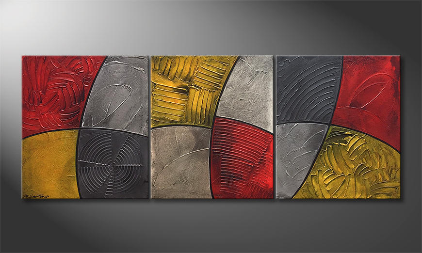 Moderne wall art Summer Heat 180x70cm