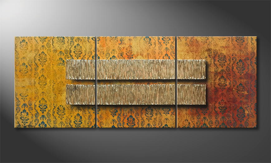 Moderne wall art Summer Rain 180x70x2cm