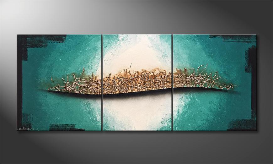 Moderne wall art Underwater Melody 170x70x2cm
