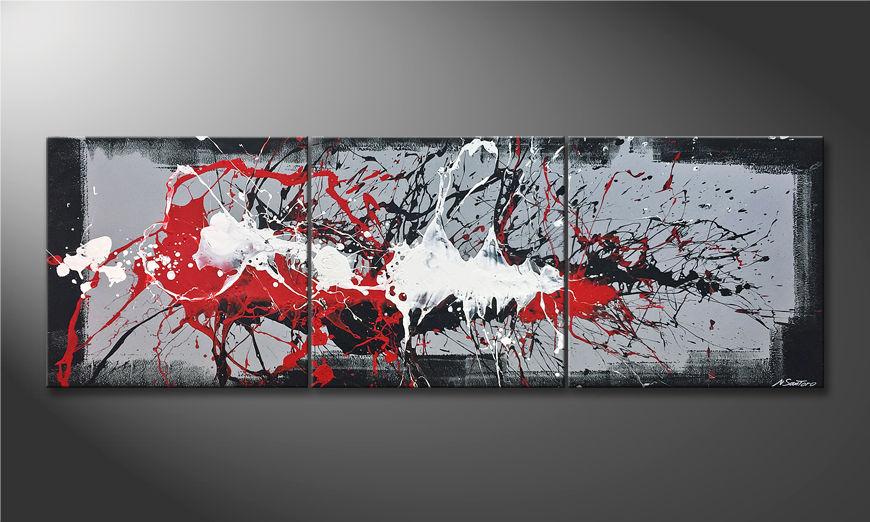 Moderne wall art Vibrations 210x70