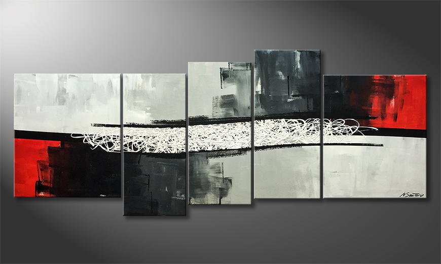 Moderne wall art White Lines 190x80x2cm