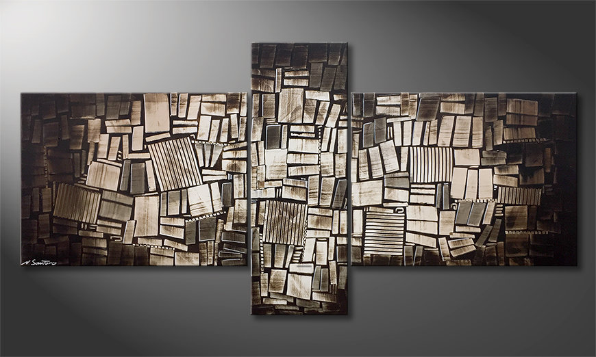 Moderne wall art Wooden Light 220x110x2cm
