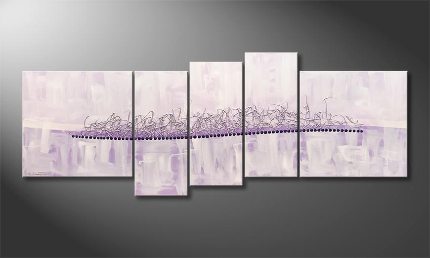 Onze schilderij Blurred Dream 210x80x2cm