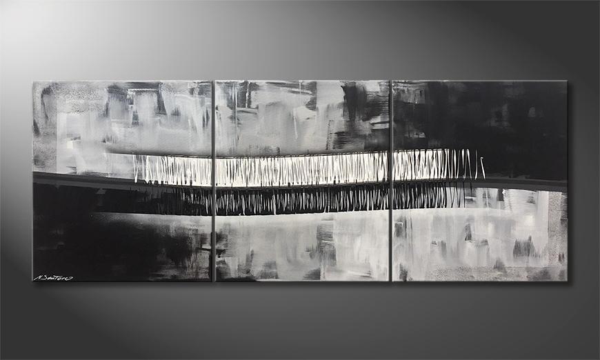 Onze schilderij Copper Horizon 180x70x2cm