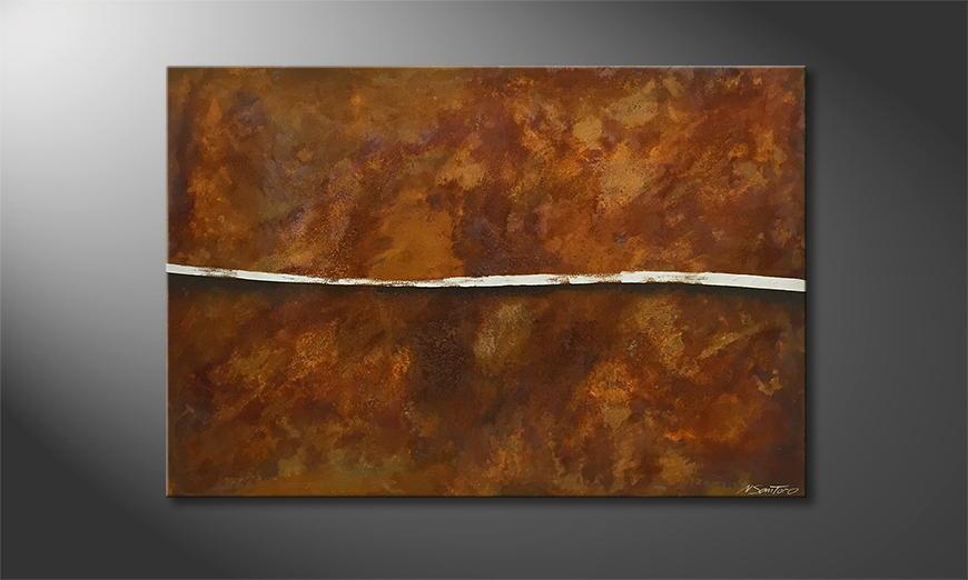Onze schilderij Cut Rust 120x80x2cm