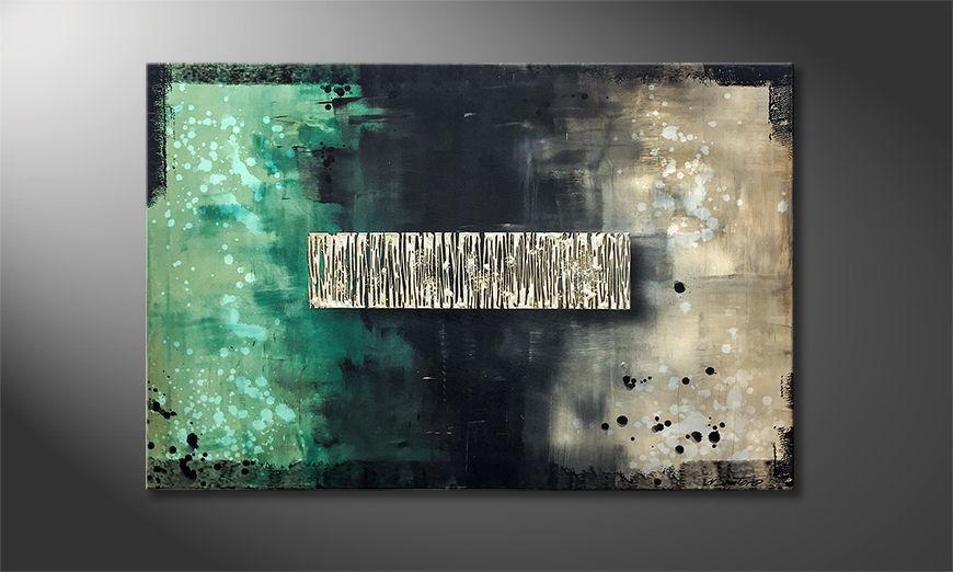 Onze schilderij Deep Silence 120x80x2cm