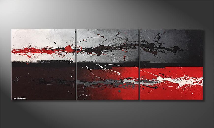 Onze schilderij Divergency 180x70x2cm