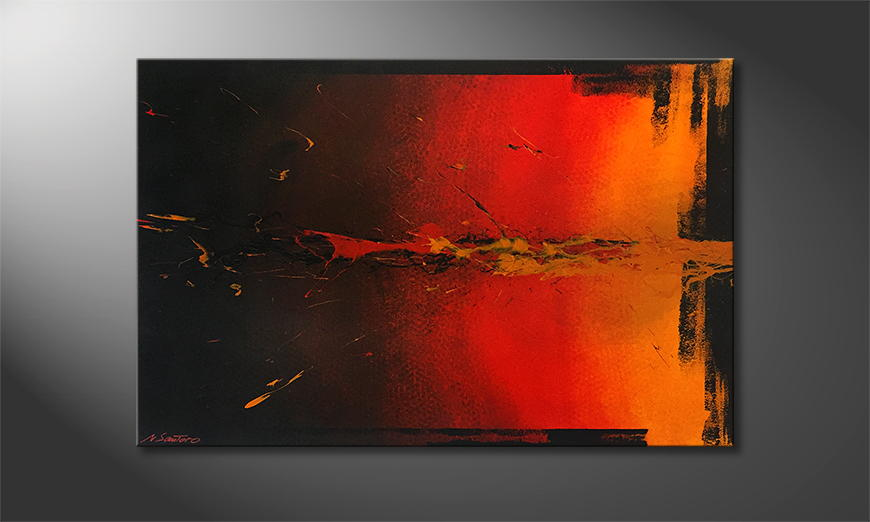 Onze schilderij Explosion 120x80x2cm