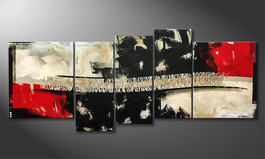 Onze schilderij Fight of Elements 190x90x2cm