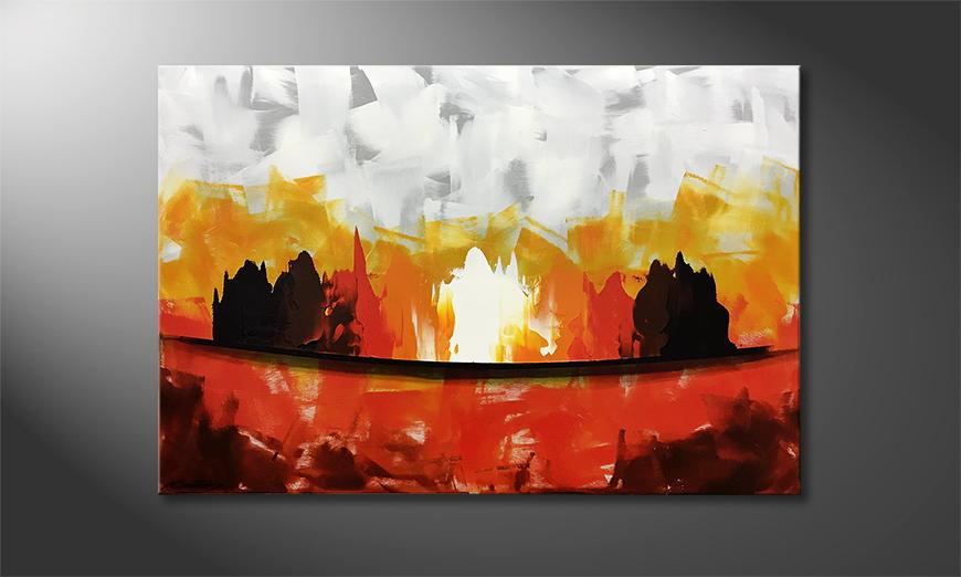Onze schilderij Flames 120x80x2cm