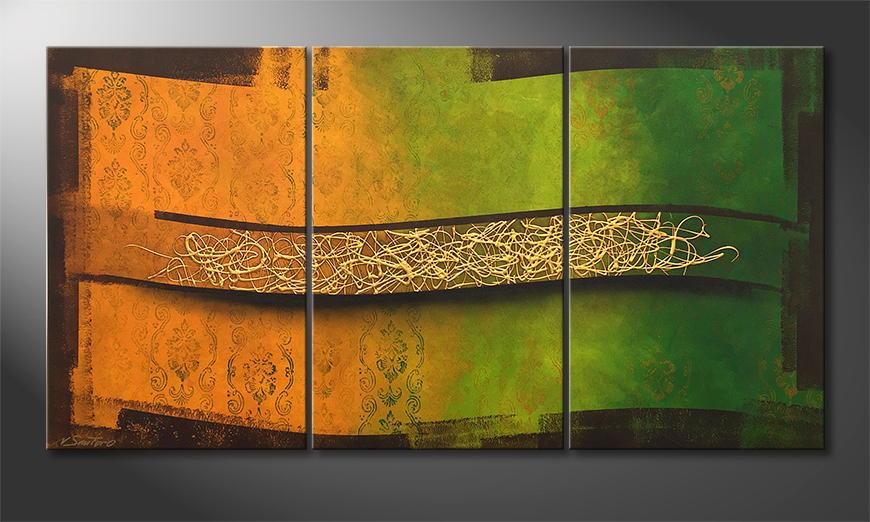 Onze schilderij Golden Spring 180x80x2cm